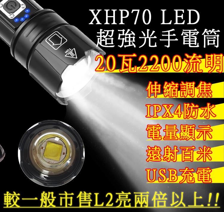 超亮級別手電筒 XHP70